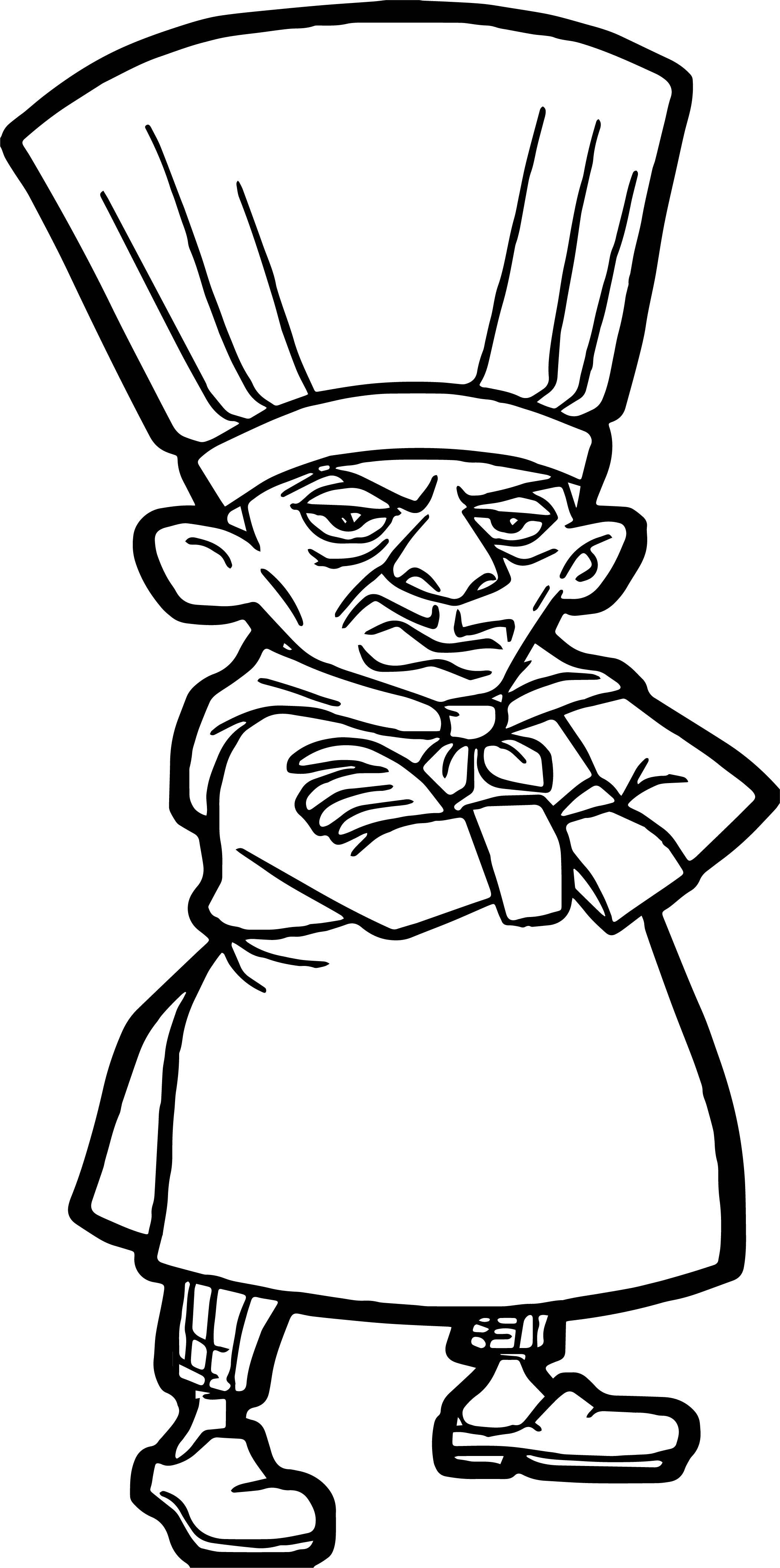 Ratatouille Chief Skinner Coloring Pages