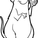 Ratatouille Hmm Cheese Mouse Coloring Page