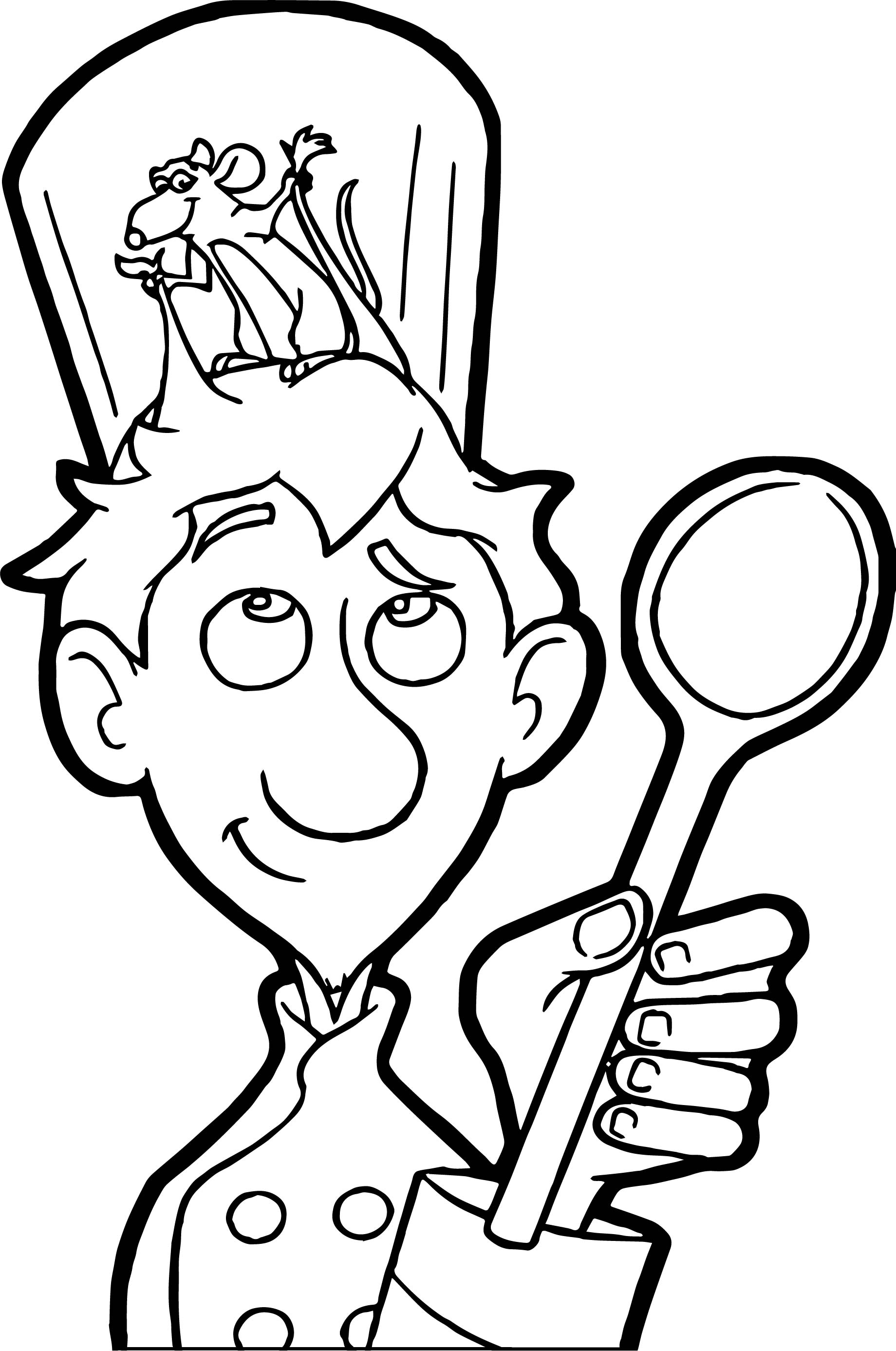 Ratatouille In Hat Coloring Pages