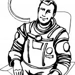 Real Astronaut Coloring Page