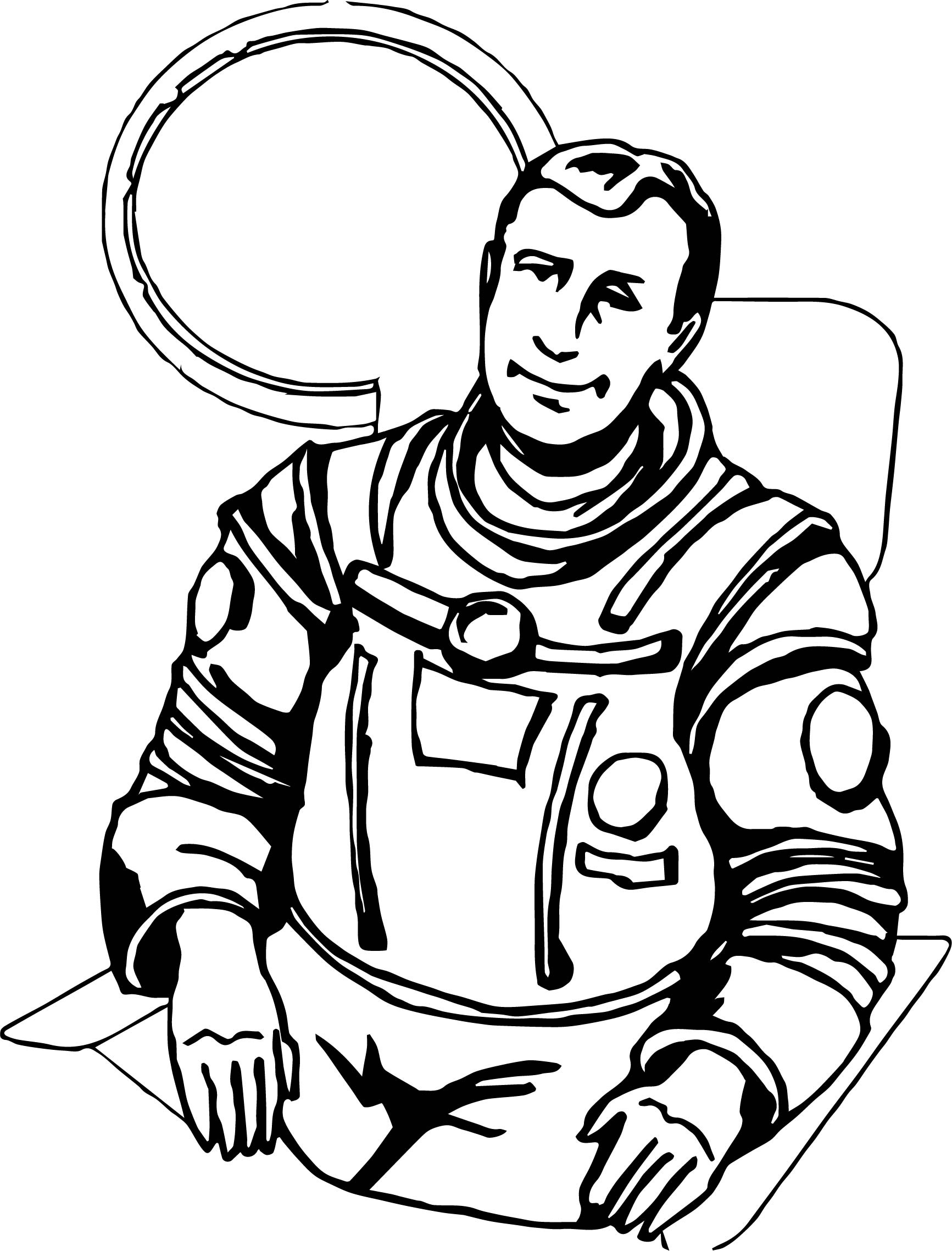 Real Astronaut Coloring Page | Wecoloringpage.com