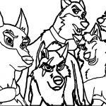 Rise Of The Wolf Characters My Balto Wolf Coloring Page