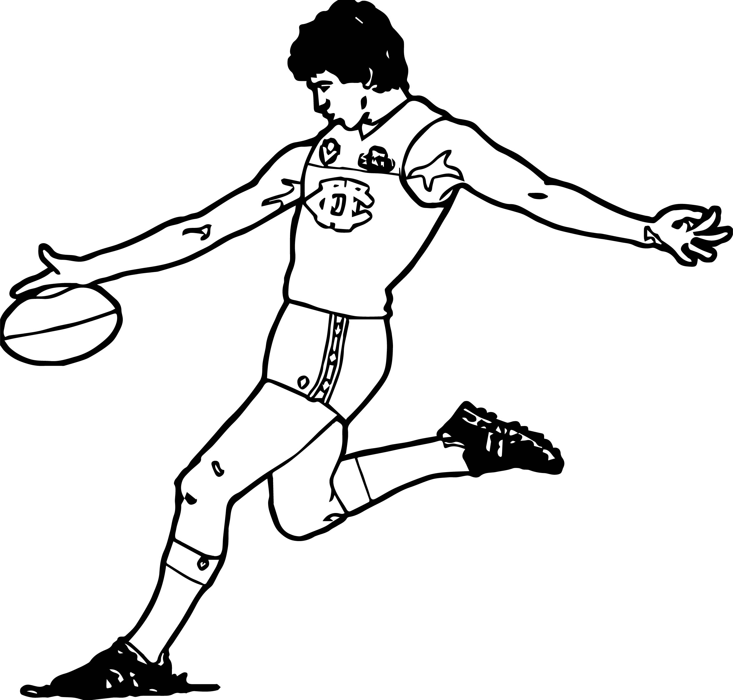 Running Player Coloring Page
