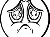 Sad Face Free Images Coloring Page