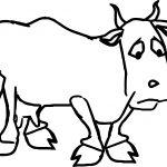 Sad Farmer Cartoon Sad Cow Coloring Page