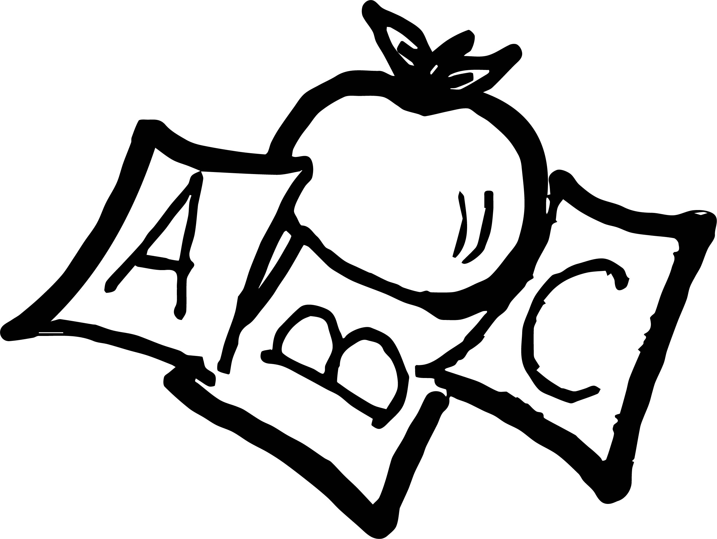 School Apple Panda Free Images Coloring Page