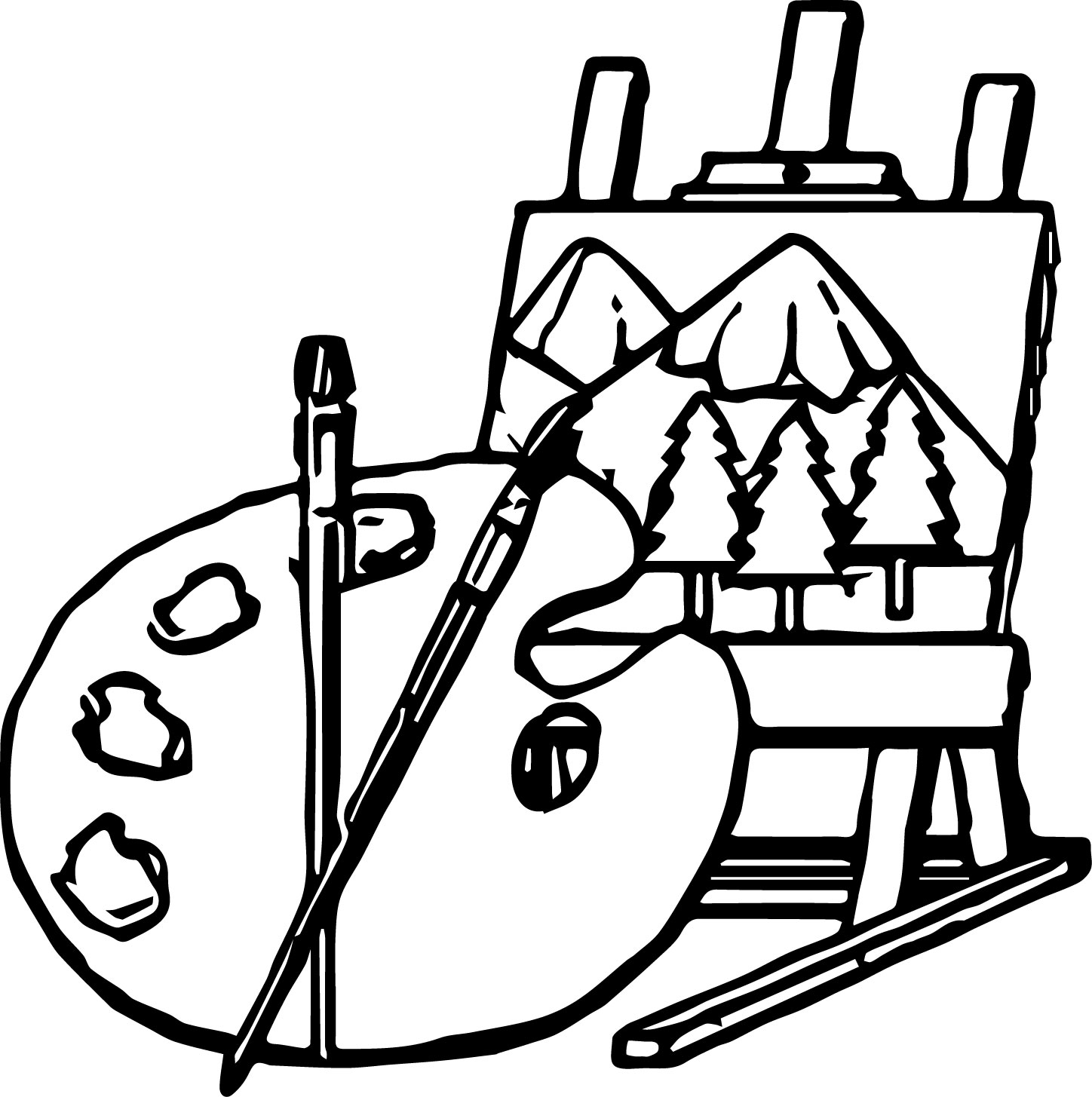 Show Artists Art Picture Paint Coloring Page
