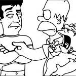 Simon Cowell In The Simpsons Coloring Page
