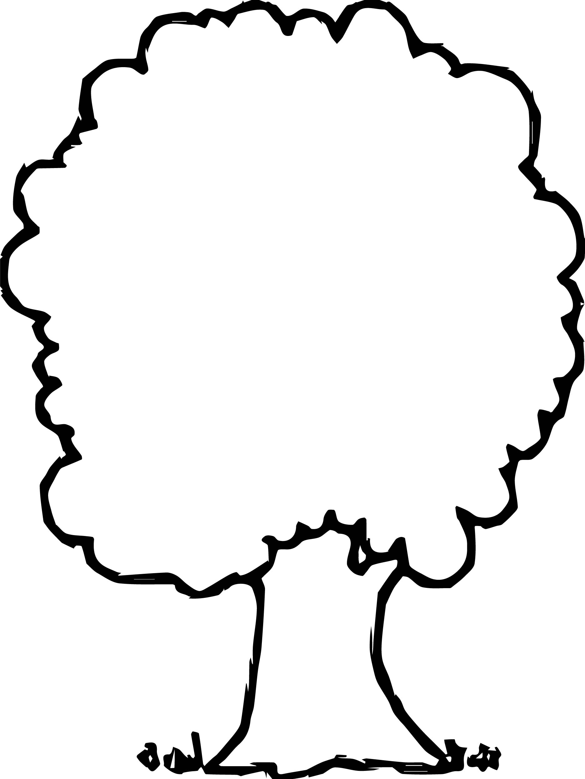 Simple Empty Apple Tree Coloring Page