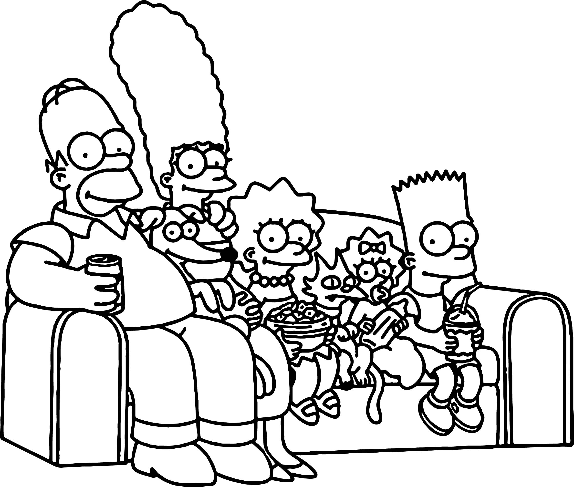Simpsons Couch Coloring Page