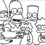 Simpsons Deal Coloring Page