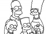 Simpsons Family And Dog Coloring Page