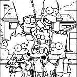 Simpsons Family At Street Coloring Page