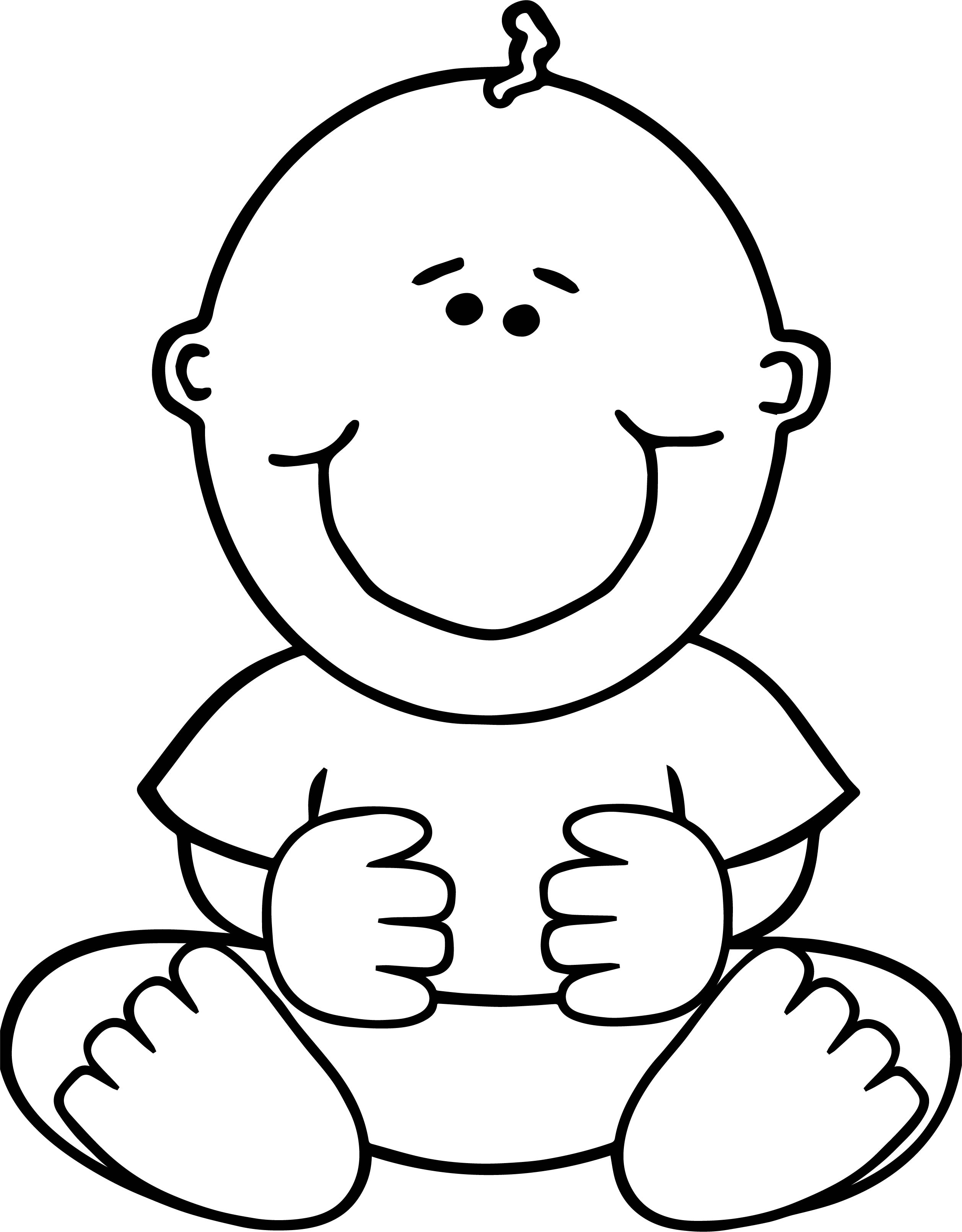 Sitdown Baby Boy Coloring Page