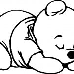 Sleep Baby Pooh Coloring Page