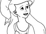 Small Ariel Mermaid Coloring Page
