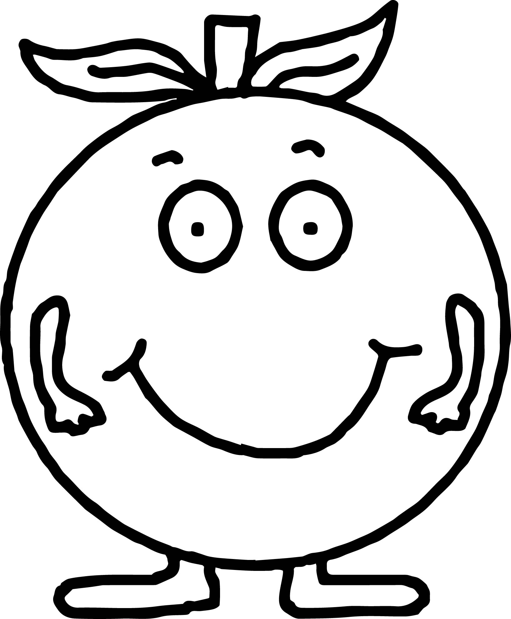 Smily Apple Coloring Page