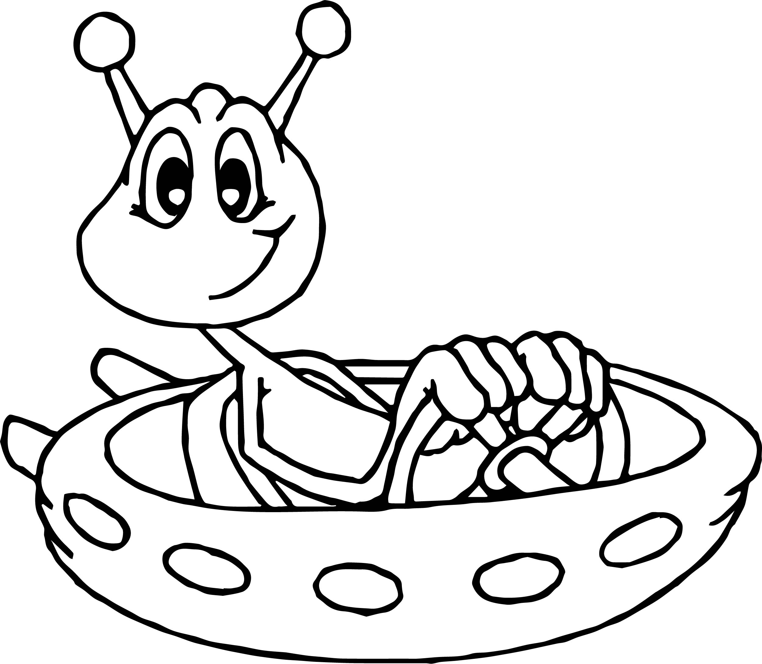 Space Astronaut Alien Coloring Page