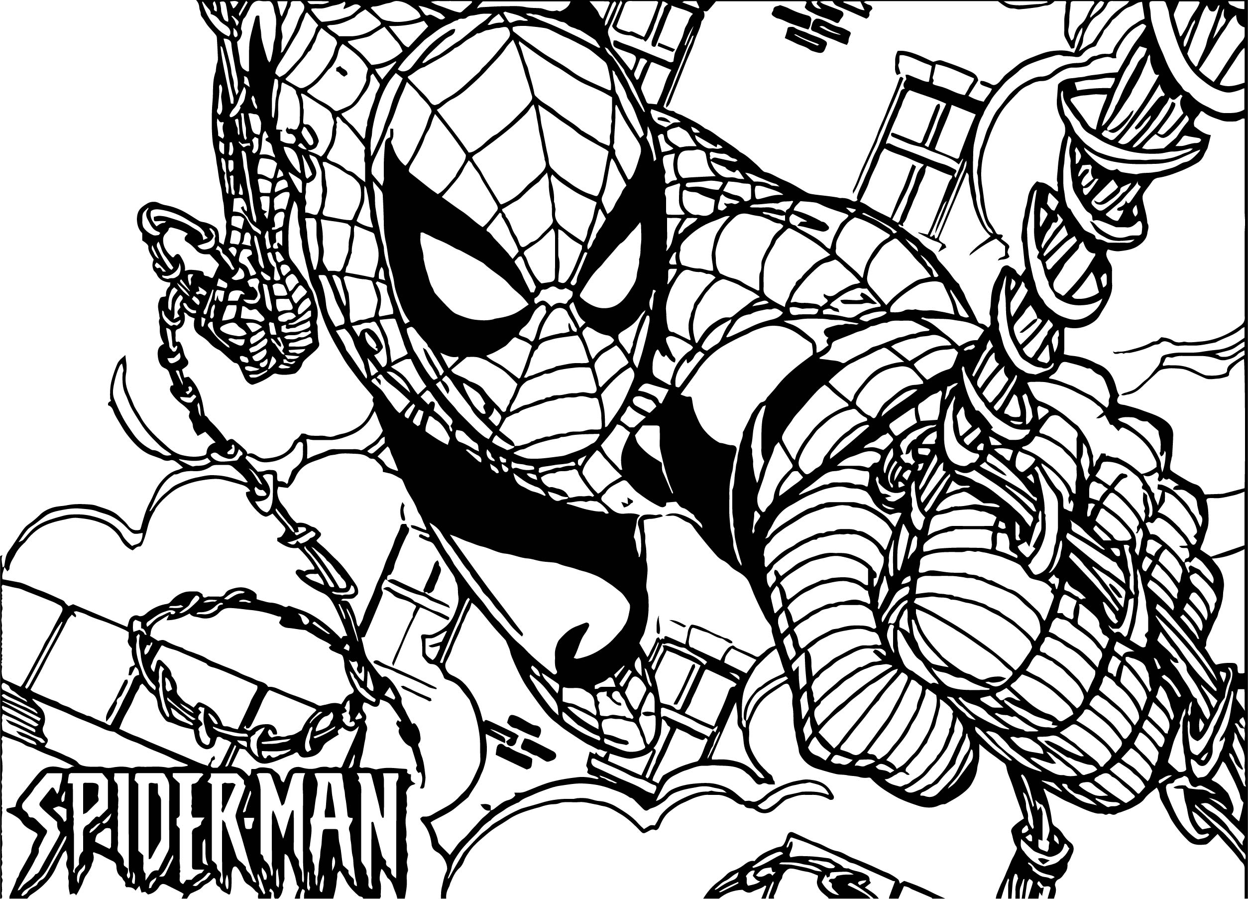 Spiderman Comic Spider Man Coloring Page