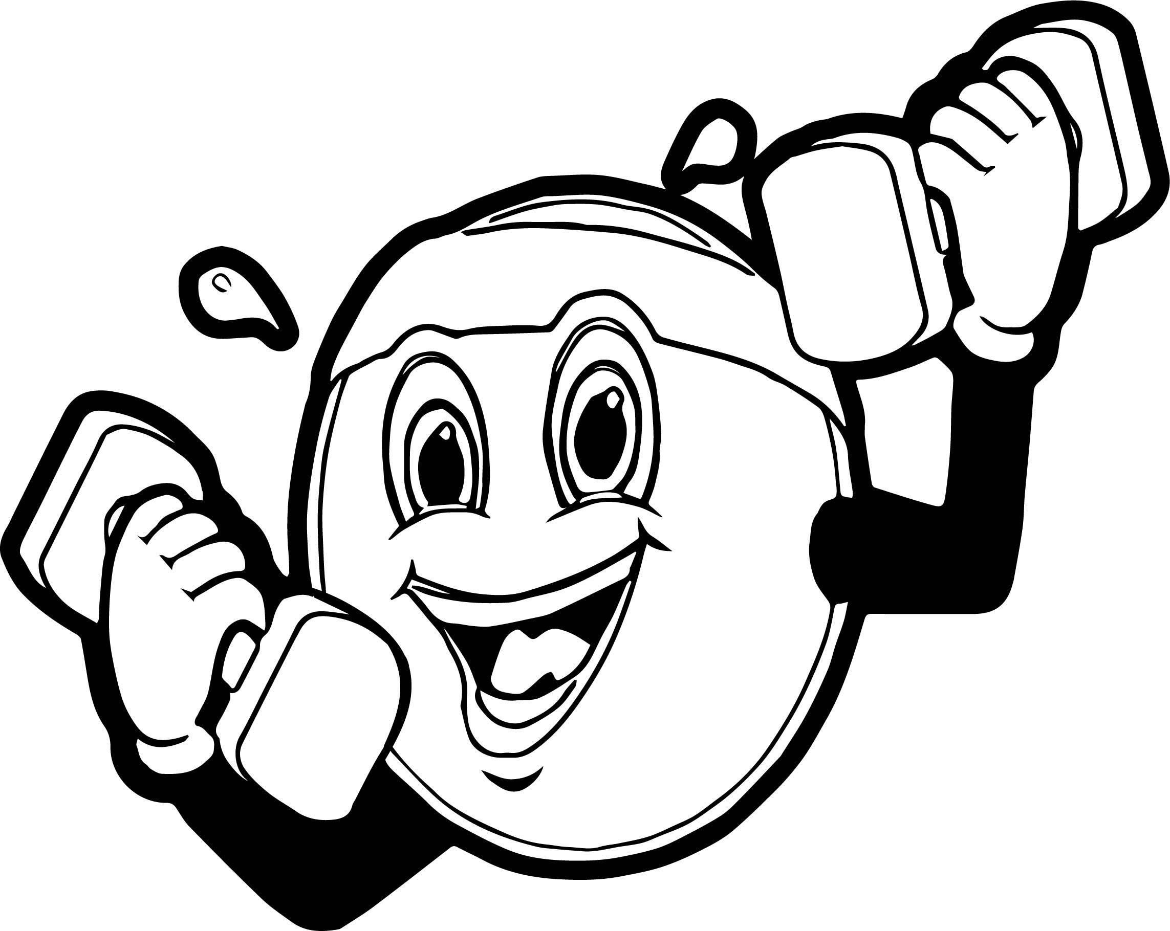 Sport Face Awesome Coloring Page