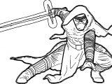 Star Wars The Force Awakens Kyloren Cartoon Coloring Page