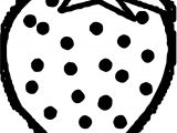 Strawberry Dot Coloring Page