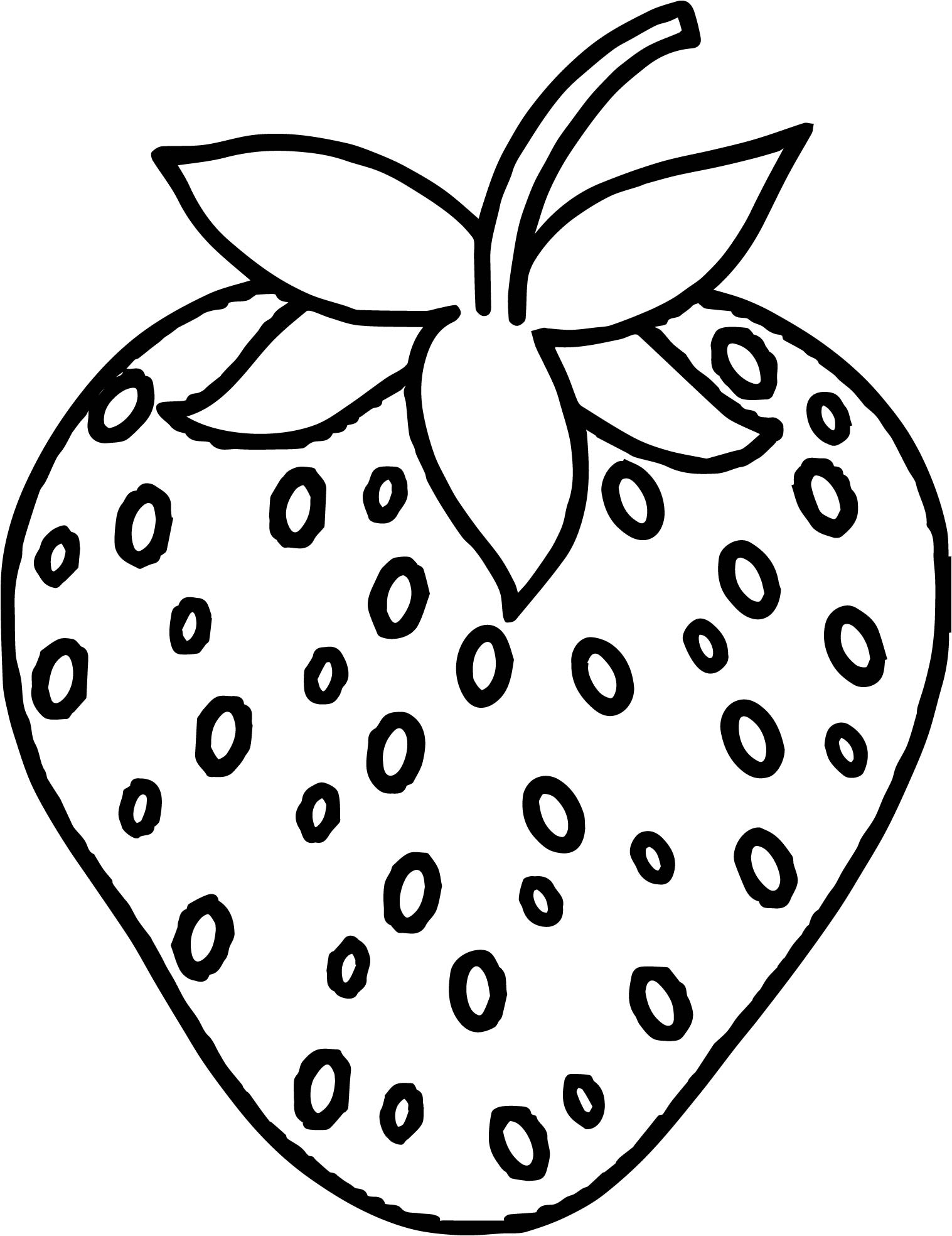 Strawberry Front Coloring Page