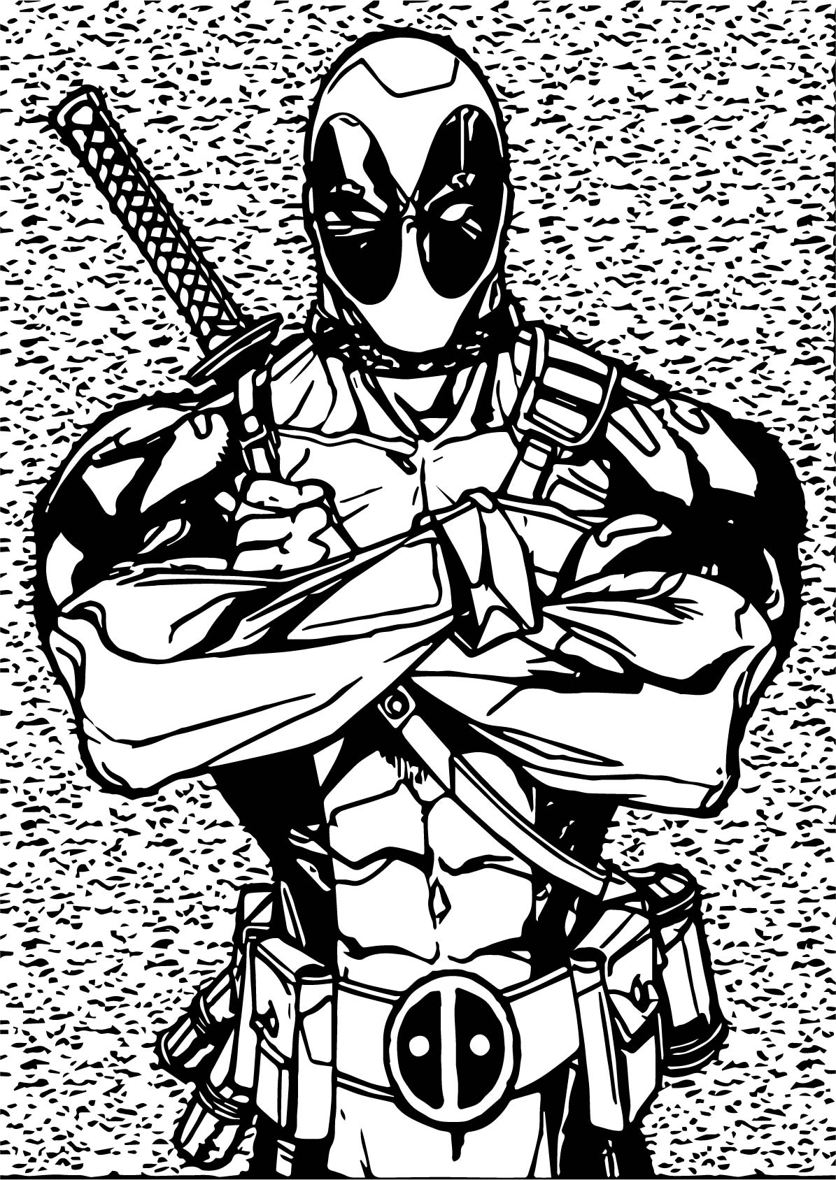 Super Deadpool Coloring Page