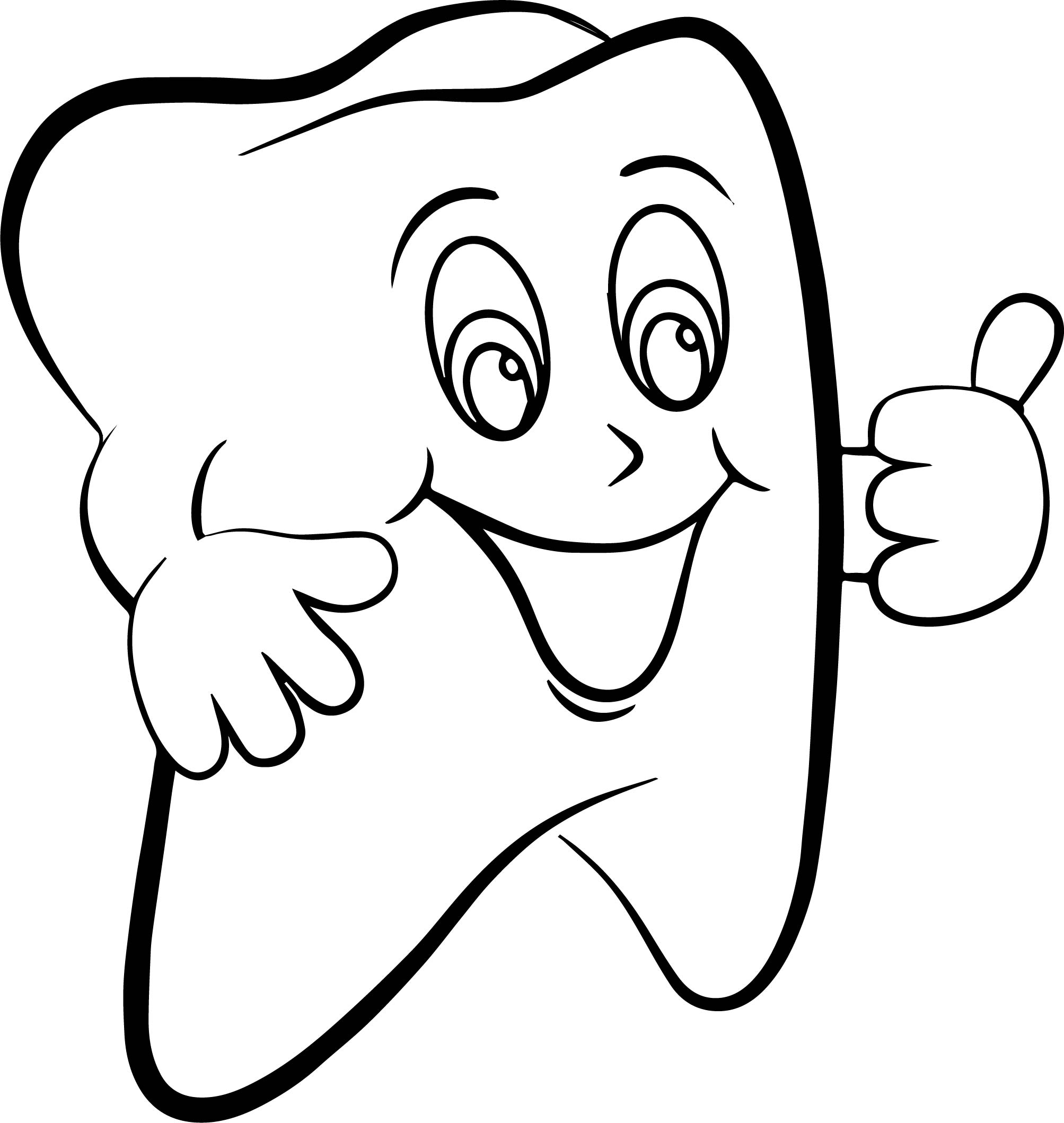 Super Dental Tooth Coloring Page Wecoloringpage
