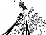 Superman And Batman Cartoon Coloring Page