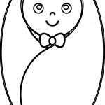 Swaddled Baby Boy Coloring Page
