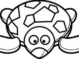 Sweet Tortoise Turtle Coloring Page