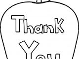 Thank You Awesome Apple Coloring Page
