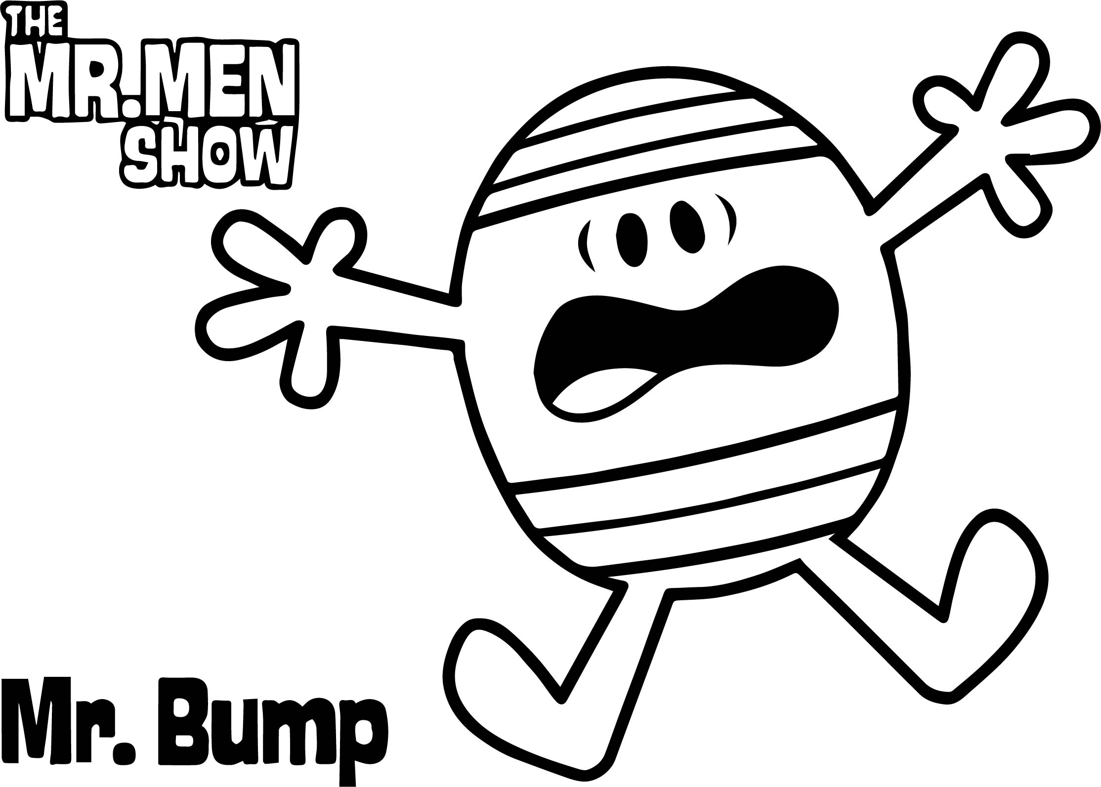 the mr men show cartoon network coloring page
