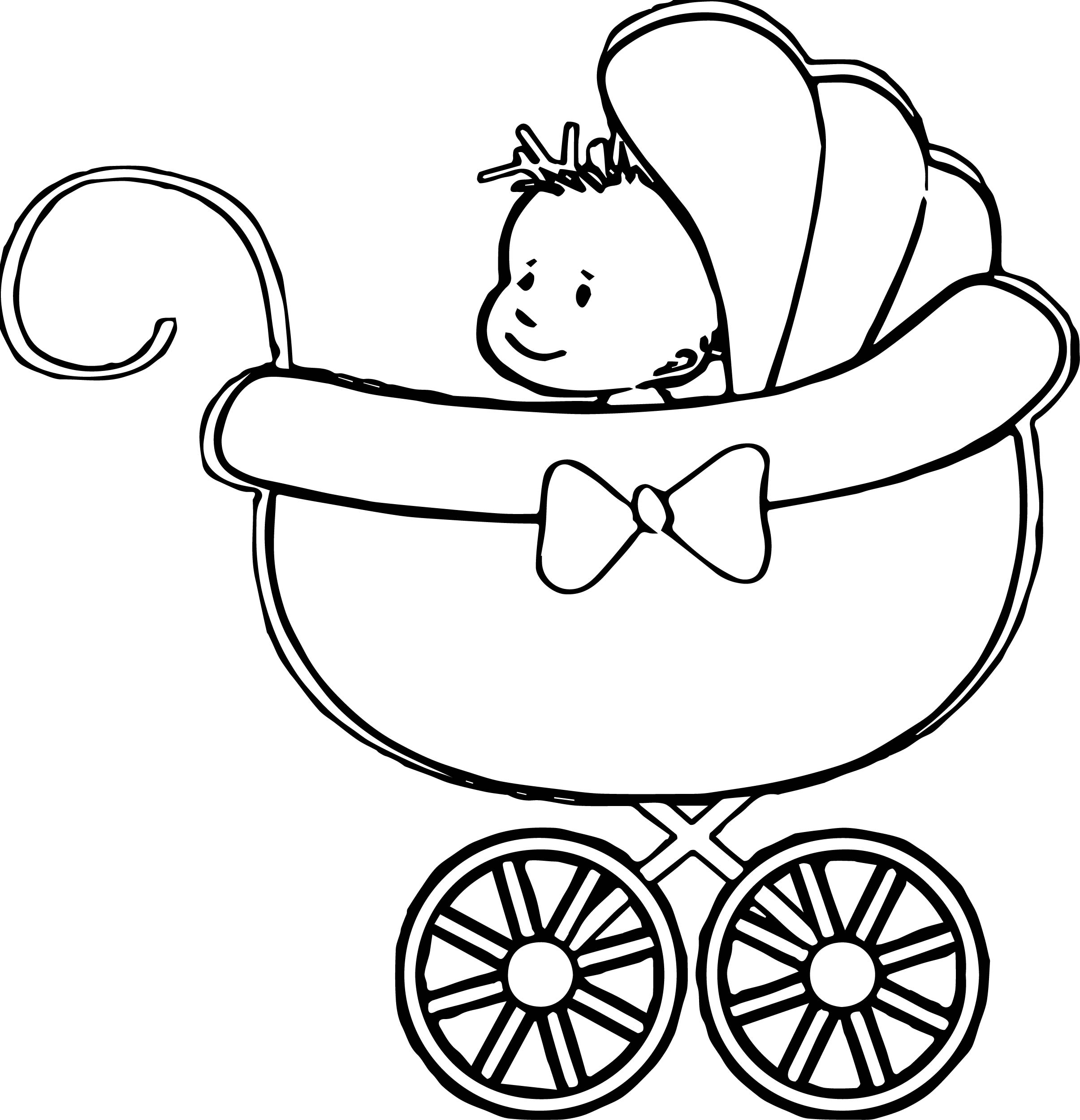 the stroller baby boy coloring page baby boy coloring pages