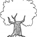 Thoughtful Apple Tree Coloring Page