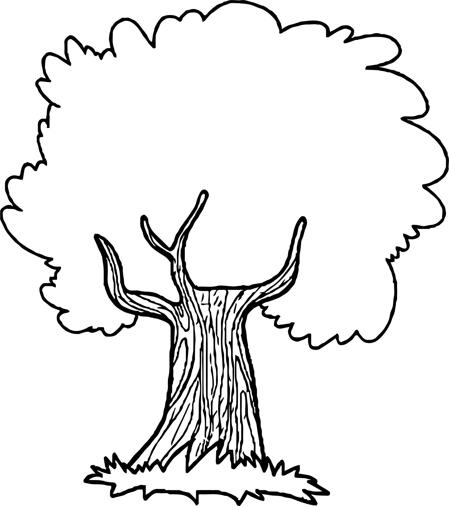 Thoughtful Apple Tree Coloring Page Wecoloringpage Com