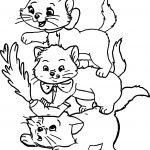 Three Kids Disney The Aristocats Coloring Page