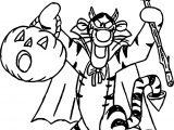 Tigger Chrismas Coloring Page