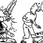 Tintin Vs Asterix Coloring Pages