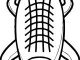 Top View Crocodile Alligator Coloring Page