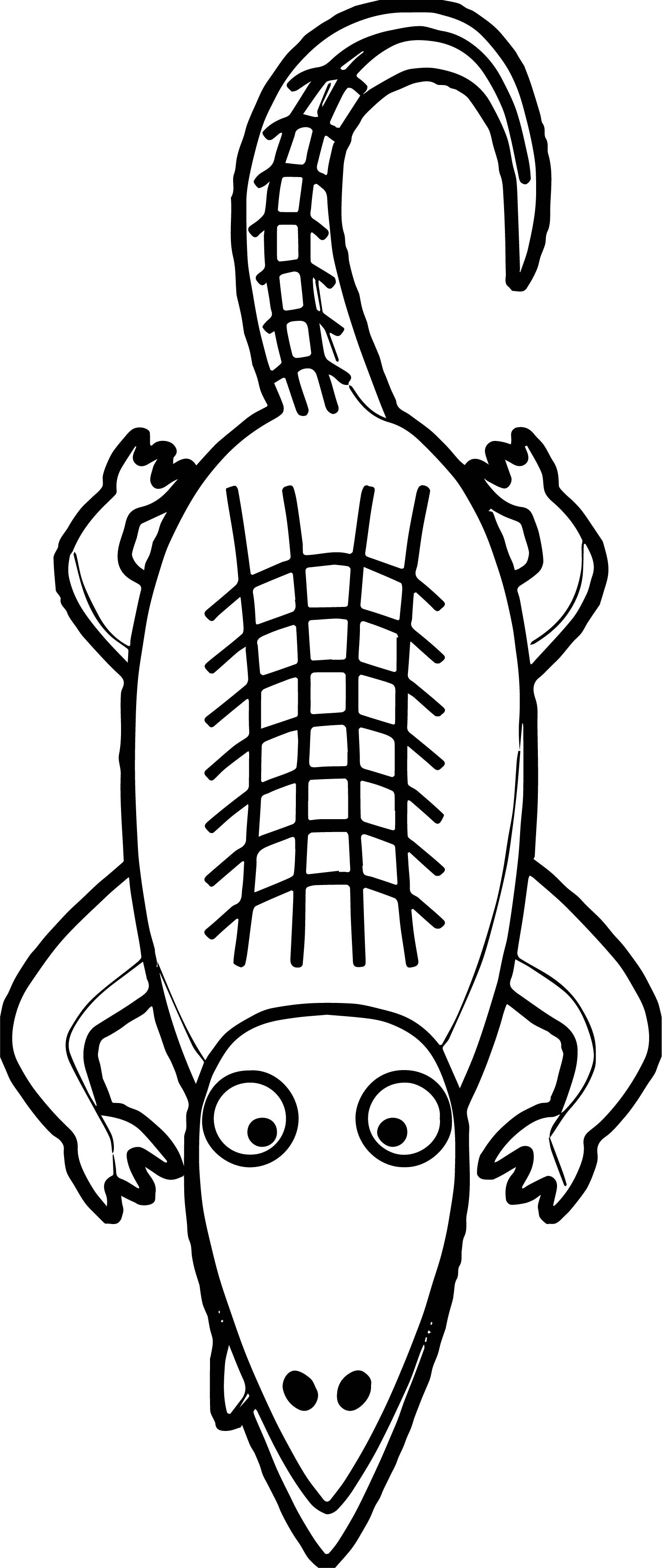 coloring pages an alligator in a sleigh bluebison - Alligator Clip Art Coloring Pages