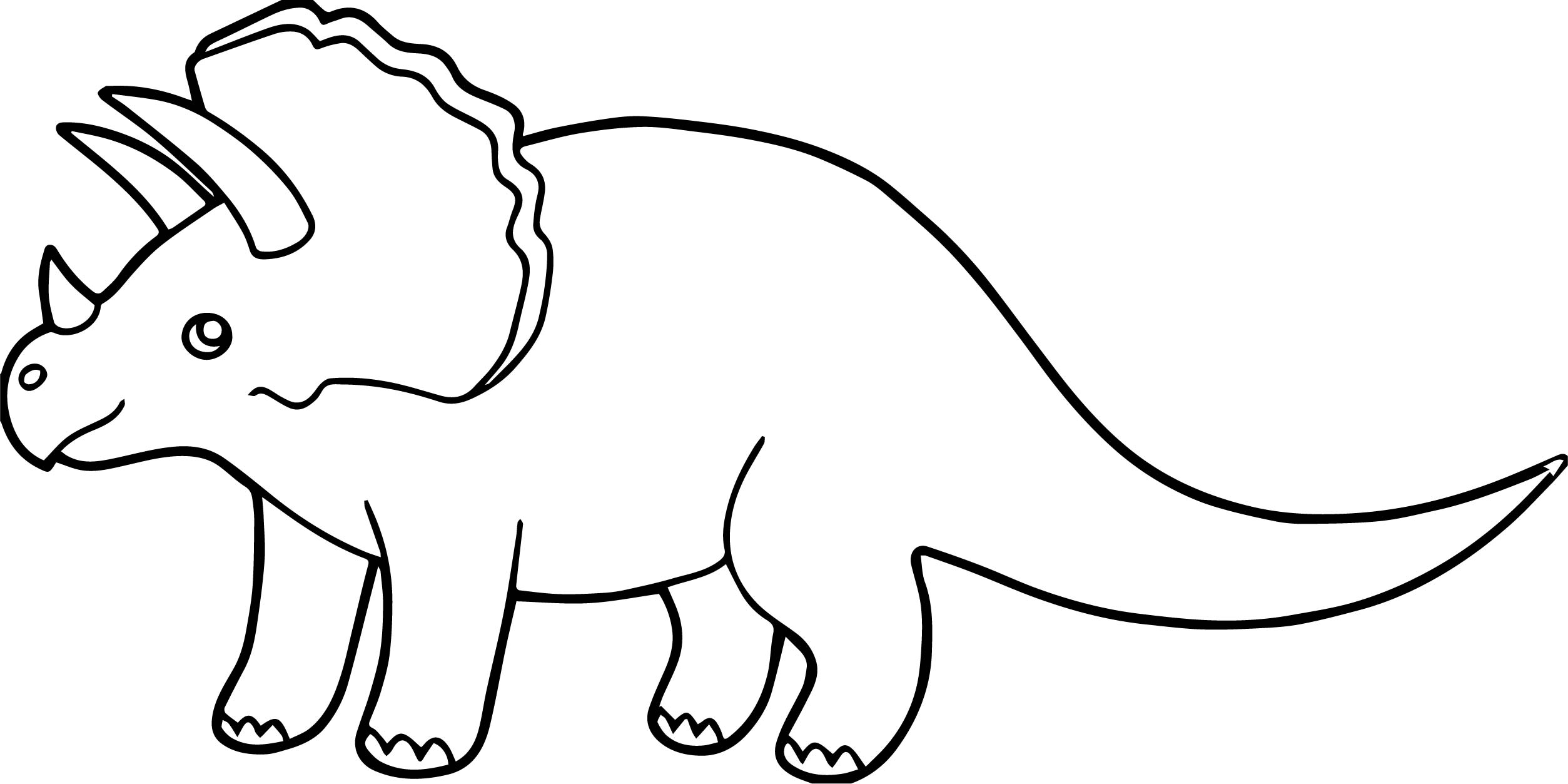 Triceratops Coloring Page Wecoloringpage