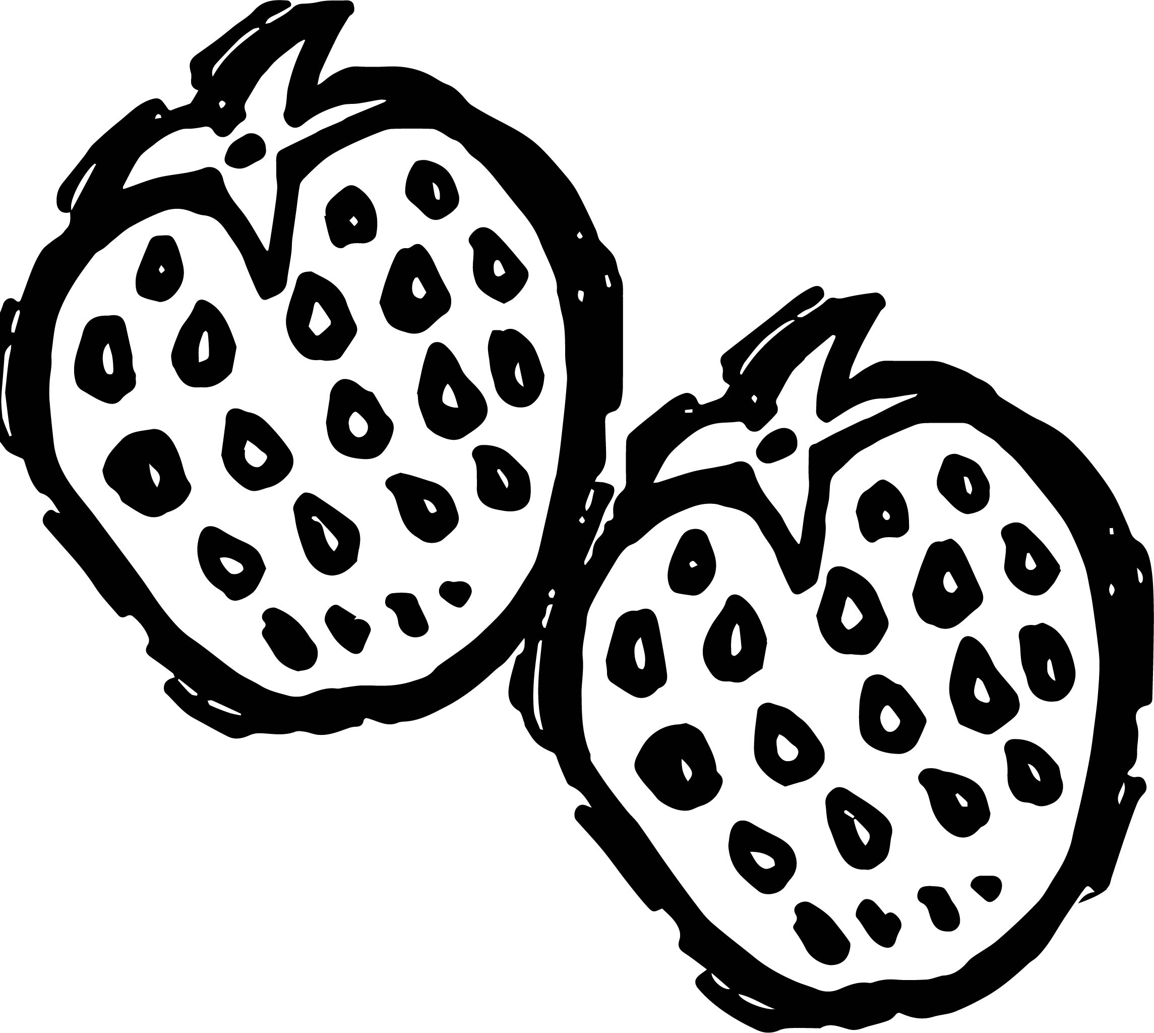 Two Strawberry Coloring Page