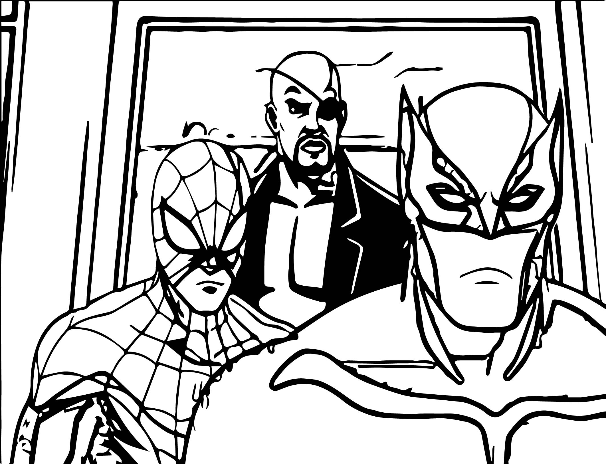 Ultimates Spider Man Coloring Page