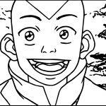 Unnamed Avatar Aang Coloring Page