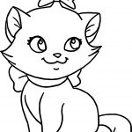 Very Cute Cat Disney The Aristocats Coloring Page