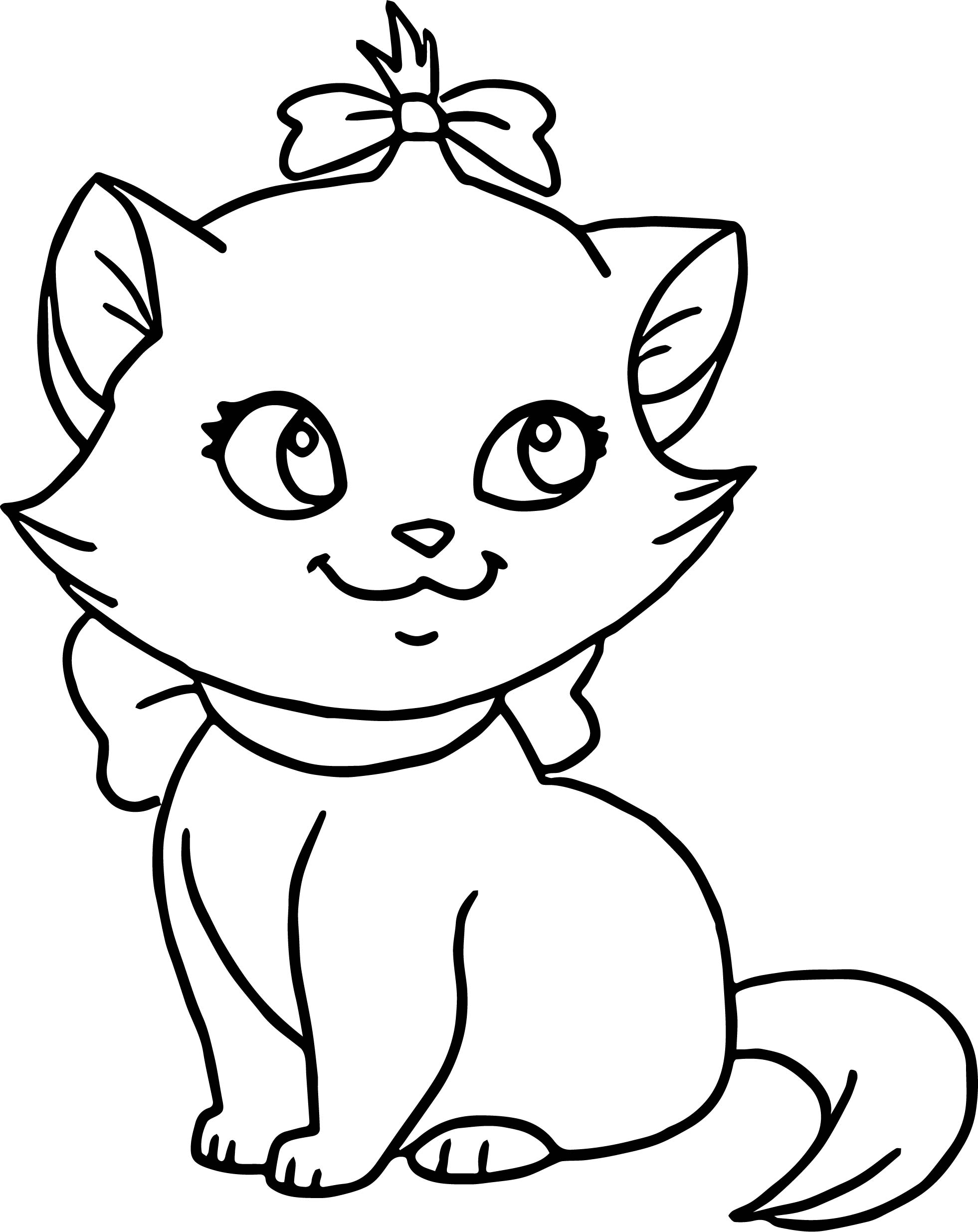Very Cute Cat Disney The Aristocats Coloring Page ...