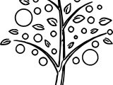 Vivacious Apple Tree Coloring Page