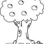 Wonderful Apple Tree Coloring Page